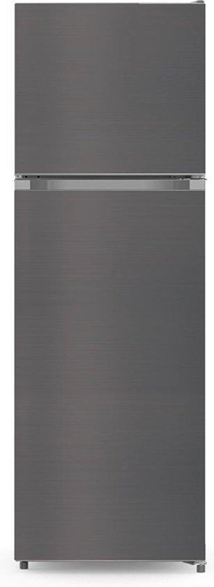 Koelkast: CHiQ Gecombineerde koel-vriescombinatie FTM251NE4 251L (198 + 53) Koud geventileerd, No Frost, Zwart roestvrij staal, omkeerbare deuren, 42 db, 12 jaar garantie op de compressor, van het merk chiq