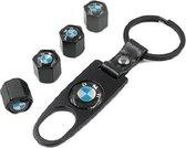 BMW ventieldopjes + sleutelhanger in cadeau-verpakking voor de BMW liefhebber.