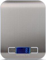 PWER Purechill - Digitale Keukenweegschaal  - Tot 5KG - RVS - Incl Batterijen.