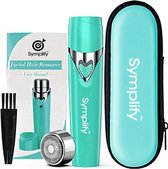 Symplify Ontharingsapparaat - Ladyshaves voor Vrouwen - Flawless Gezichts Ontharing Dames - Blauw