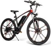 BLACK Edition Samebike MY-SM26 Elektrische Mountainbike Volwassenen fiets 48V 8AH 30 Km/h Top Snelheid met bereik van 60 - 80Km Kilometerafstand Elektrische scooter Fiets