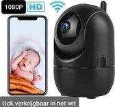 Babyfoon met camera zwart - Wifi Beveilingscamera zwart- Hondencamera Wifi -Babyfoon met Wifi -Camerabewaking-Tweezijdige Communicatie- Spraakfunctie -Nachtzicht- Onbeperkt bereik -HD Quality -1080P - Nederlandse Handleiding  -Opslag in  Cloud of SP