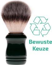 Scheerkwast Biowust - Met zachte soepele haren - Voor een volle scheerschuim en gelijkmatige verdeling van scheerzeep, scheerschuim en scheercrème - 100% gemaakt van duurzamere materialen - Groen