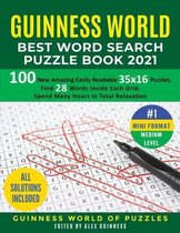 Guinness World Best Word Search Puzzle Book 2021 #1 Mini Format Medium Level