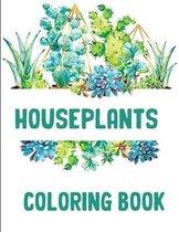 Houseplants Coloring Book