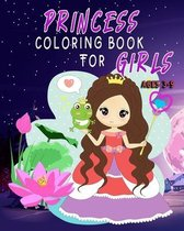 Princess Coloring Book for Girls Ages 3-9
