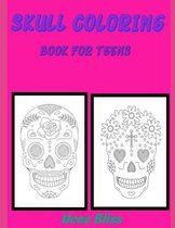 Skull coloring book for Teens