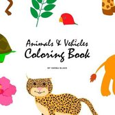 Animals and Vehicles Coloring Book for Children (8.5x8.5 Coloring Book / Activity Book)