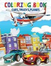 Coloring Book Cars, Trucks, Planes