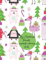 My Christmas friends, animals coloring book
