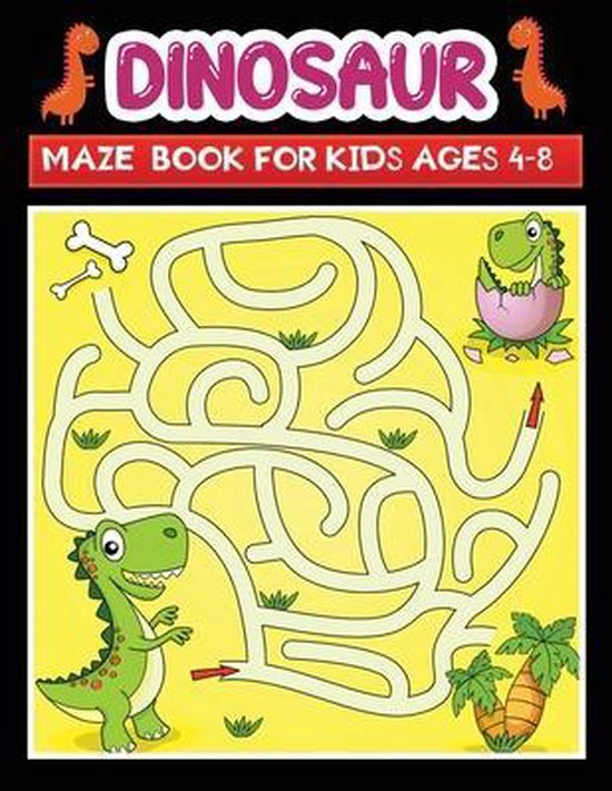 dinosaur maze book for kids ages 4-8