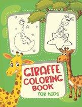 Giraffe Coloring Book For Kids: