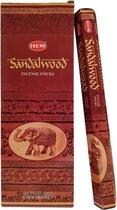 2 kokers - Wierook Sandalwood - Sandalwood Wierook - (HEM) - Sandalwood - Sandelhout - Wierookstokjes Sandelwood - Sandelwood Wierookstokjes - Wierooksticks - Incense sticks - 20 stokjes per koker