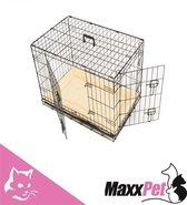 MaxxPet Hondenbench - Zwart - 63x44x50cm - Gratis plaid