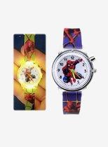 Spider-Man horloge met knipperlicht, spiderman horloge met licht, kinderhorloge