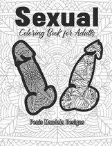 Sexual Coloring Book for Adults Penis Mandala Designs