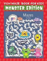 fun maze book for kids monster edition