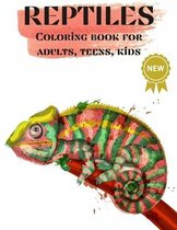 Reptiles, Coloring books for Adults, Teens, Kids
