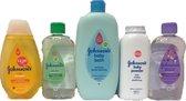 Johnson's Baby Pakket Groot * 5-Delig - Badschuim / Baby Shampoo /Talkpoeder / Baby Olie Lavendel Bedttime / Aloë Vera Massageolie
