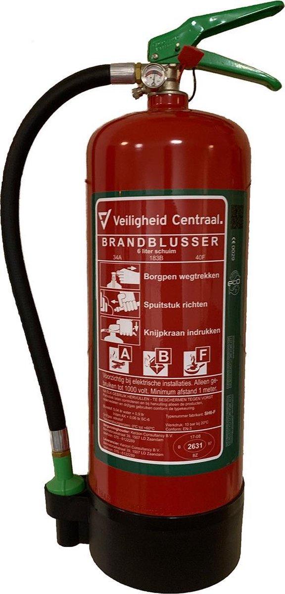 Schuimblusser ABF 6 liter, A-kwaliteit incl. Wandbeugel en keuring