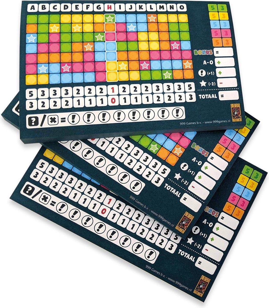 Scoreblokken Keer op Keer drie stuks Level 1 Dobbelspel