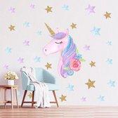 Muursticker | Unicorn | Eenhoorn | Wanddecoratie | Muurdecoratie | Slaapkamer | Kinderkamer | Babykamer | Jongen | Meisje | Decoratie Sticker |