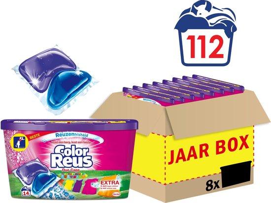 Color Reus Duo Caps Wascapsules - Wasmiddel Capsules - Voordeelverpakking - 8 x 14 wasbeurten