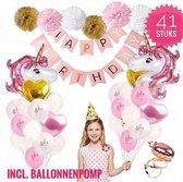 DKvani - Unicorn - Eenhoorn - Verjaardag - Versiering - 41 delig - Pakket - Helium ballonnen - Folie ballonnen - Set