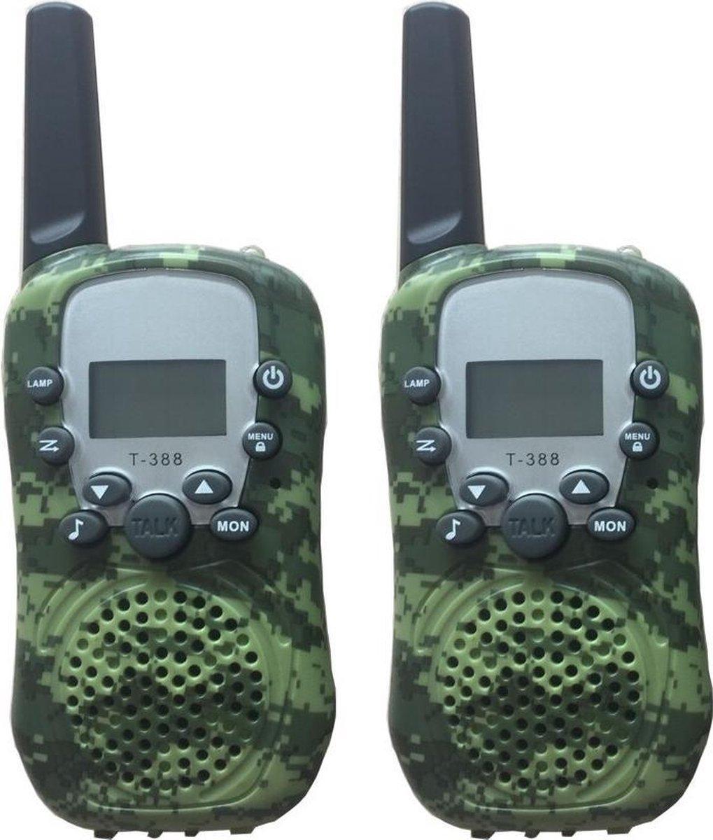 DrPhone WT388- 22 kanaals Walkie Talkies - Voor Kinderen - 6 Kilometer - Camouflage Groen