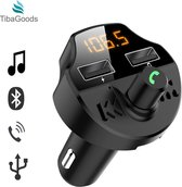 Auto FM Transmitter - Bluetooth - Handsfree bellen - USB-aansluiting - Carkit - Audio receiver - Oplaadfunctie - Auto accessoires