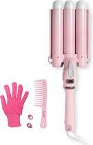 Bombé Waver - Wafeltang - Golvenkrultang - Wave krultang - 25mm Baby Pink
