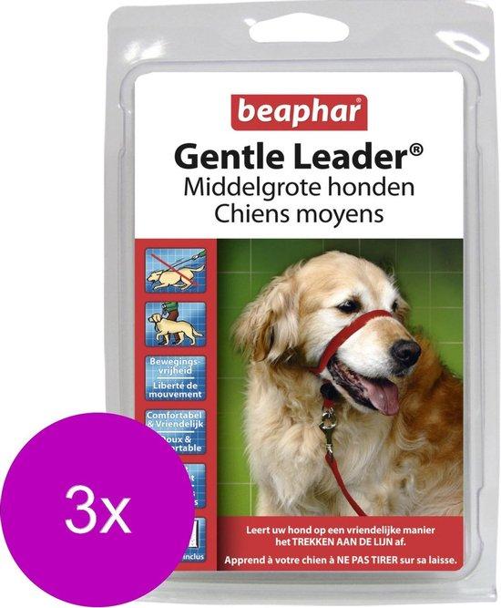 Beaphar Gentle Leader Rood - Hondenopvoeding - 3 x Medium Middel