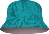 BUFF® Travel Bucket Hat AÇAI GREY-TURQUOISE M/L - Zonnehoed - Zonbescherming