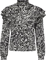 ONLY ONLPELLA L/S HIGH NECK FRILL TOP JRS Dames Top - Maat M