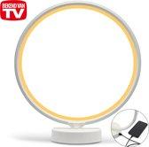 LIROMA® Daglichtlamp - Opbergtas - ⌀ 32 - USB poort - 10000Lux - Touch screen - Geel en Wit licht - Lichttherapielamp – Energielamp - Sad Lamp - Lichttherapie
