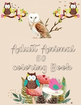 Adult Animal 50 Coloring Book