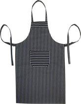 Homéé Keukenschort - Apron Zwarte strepen - 70 x 100 cm