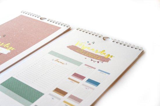 Verjaardagskalender - pastel kleuren - zonder jaartal - 16,5 x 30 cm