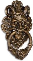 Deurklopper - Gietijzeren Duivel - Bronzen gezicht