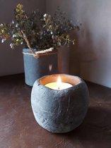 Brynxz - Theelichthouder - Beton - Industrial Vintage - Waxinelichthouder - Hoogte 8 cm