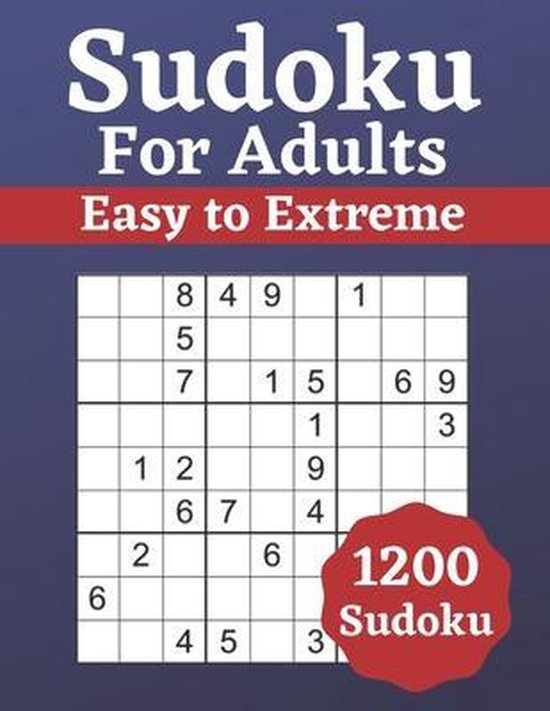 Boek cover Sudoku for Adults Easy to Extreme van Ken Smith (Paperback)