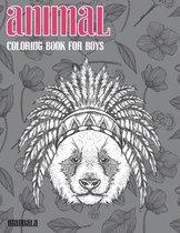 Mandala Coloring Book for Boys - Animal