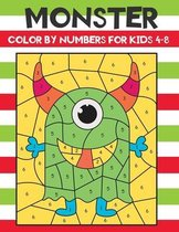 monster color by numbers for kids 4-8