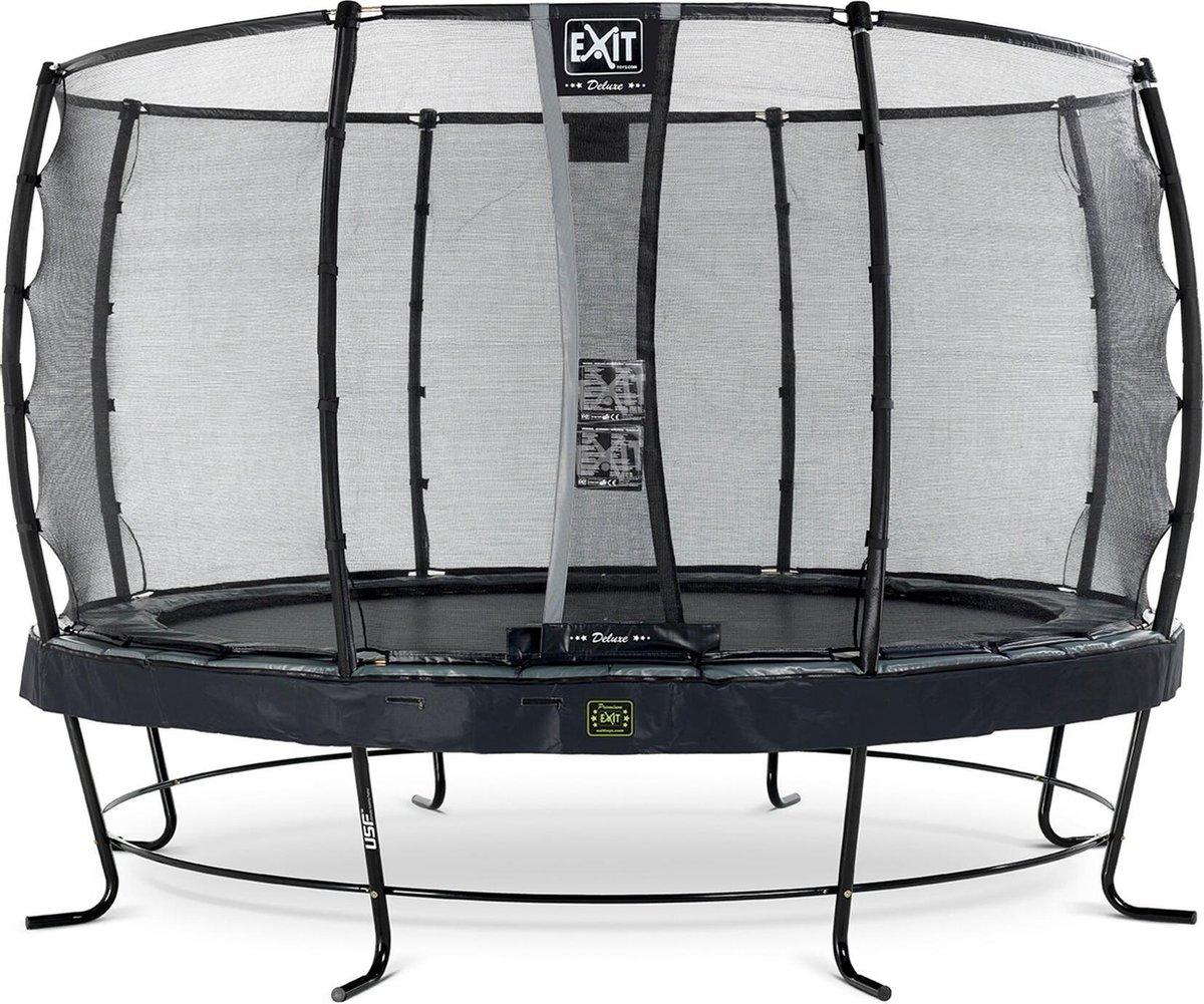 Trampoline EXIT Elegant Premium - ø366 cm zwart + net