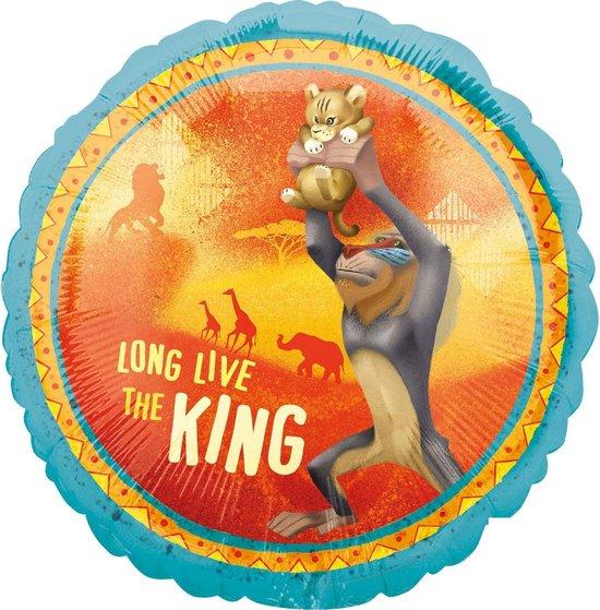 Amscan Folieballon Lion King Junior 43 Cm Blauw/geel