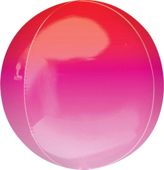 Amscan Folieballon Orbz 40 Cm Roze/rood