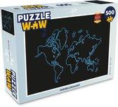 Puzzel 500 stukjes Wereldkaarten - Wereldkaart  - PuzzleWow heeft +100000 puzzels