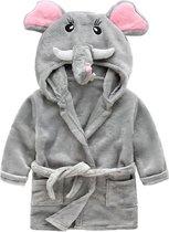 MINIIYOU - Kinder Peuter Badjas met zakken - meisje kind - olifant - maat 98/104 (3 jaar)