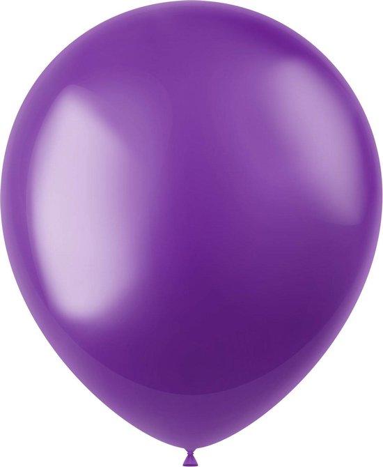 Paarse Ballonnen Metallic Violet Purple 33cm 100st