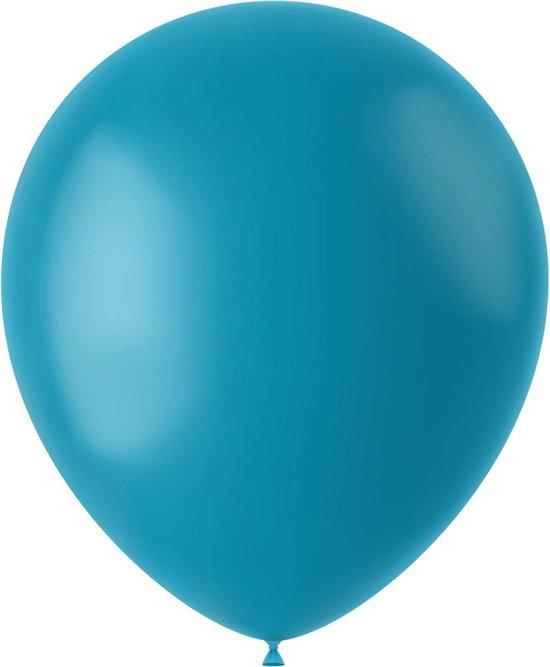 Turquoise Ballonnen Calm Turquoise 33cm 10st